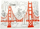 Modern Twist Kids Mark-Mat Silicone Coloring Placemat, Fun on the Golden Gate