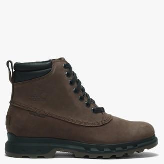 Sorel Mens Portzman Tobacco & Black Nubuck Worker Boots