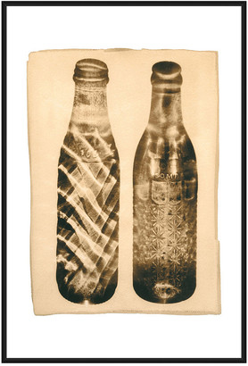 Jonathan Bass Studio Inverse Bottles, Decorative Framed Hand Embellishe
