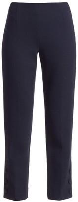Lela Rose Button Detail Wool Crepe Pants