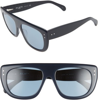 Alaia 55mm Square Flattop Sunglasses