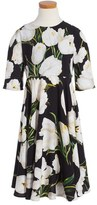Dolce & Gabbana Floral Print Dress (Toddler Girls, Little Girls & Big Girls)