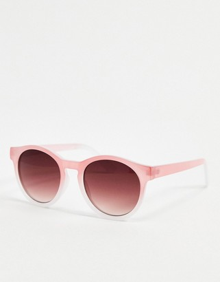 A. J. Morgan AJ Morgan round sunglasses in pink