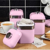 Swan Retro Set of 3 Storage Canisters Pink