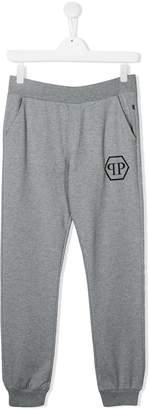 Philipp Plein Junior TEEN logo printed track pants