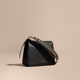 Burberry Eyelet and Rivet Detail Leather Crossbody Bag