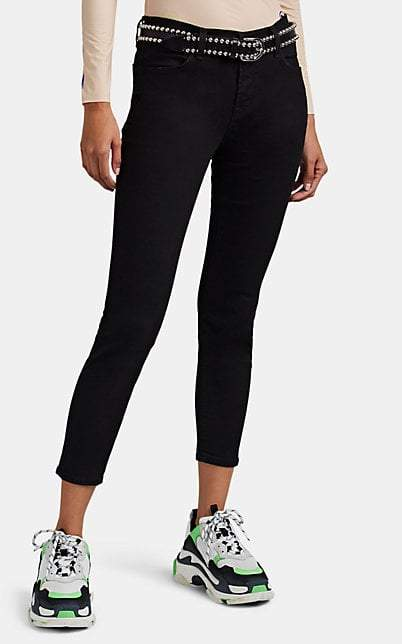 J Brand Women's Mid-Rise Skinny Crop Jeans - Black