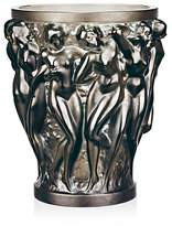 Lalique Bacchantes Deep Green Vase