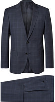 Hugo Boss - Blue Checked Super 120s Virgin Wool Suit