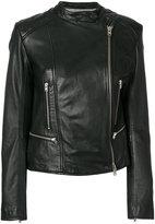 Closed side zip jacket