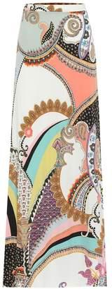Etro Paisley-print crepe maxi skirt
