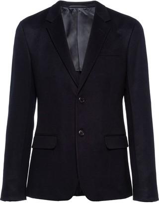 Prada Single-Breasted Cashmere Blazer