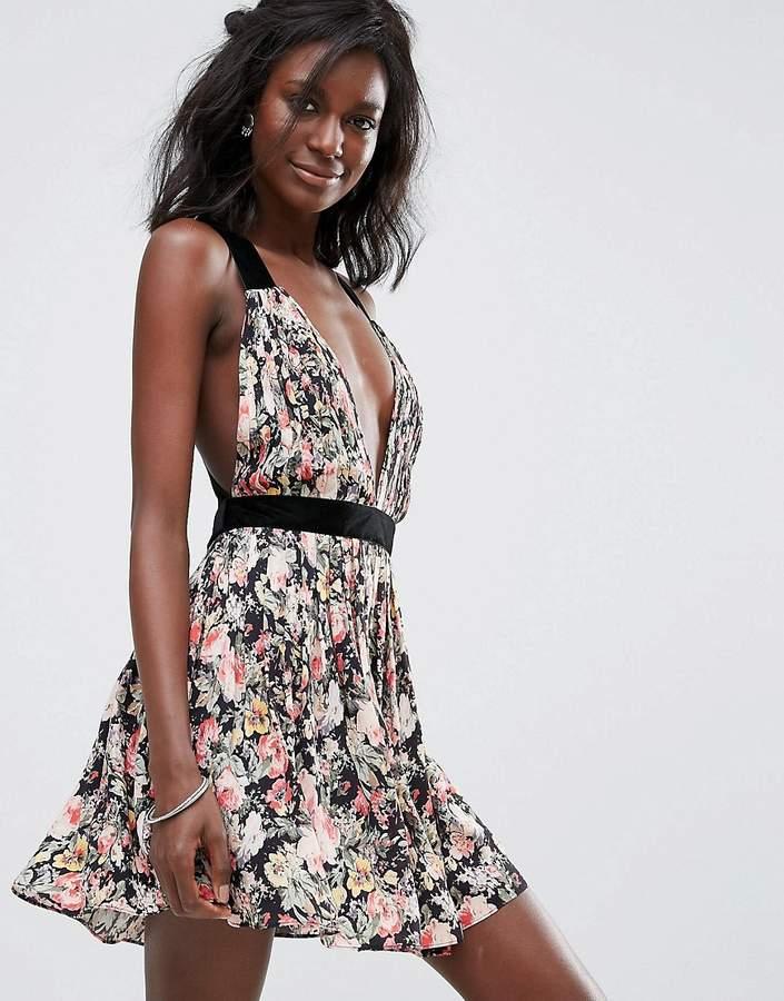 Majorelle April Open Back Floral Dress
