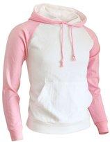 BCPOLO Men's Raglan Hoodie Pullover Cotton Fleece Long Sleeve Hoodie - L