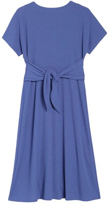 Spense Button Down Waist Tie Dress