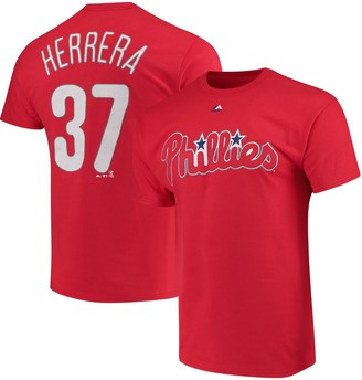 Majestic Men's Odubel Herrera Red Philadelphia Phillies Official Name & Number T-Shirt
