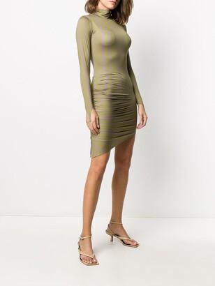 MAISIE WILEN Asymmetric Hem Geometric-Print Dress