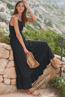 Next Womens Black Trapeze Dress - Black