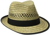 San Diego Hat Company Women's Panama Hat with Grosgrain Trim