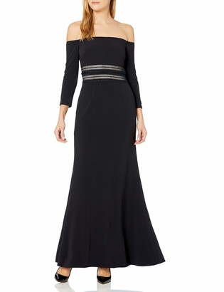 JS Collections Women's Off Shoulder Gown