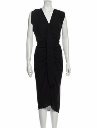 Lanvin V-Neck Long Dress Black