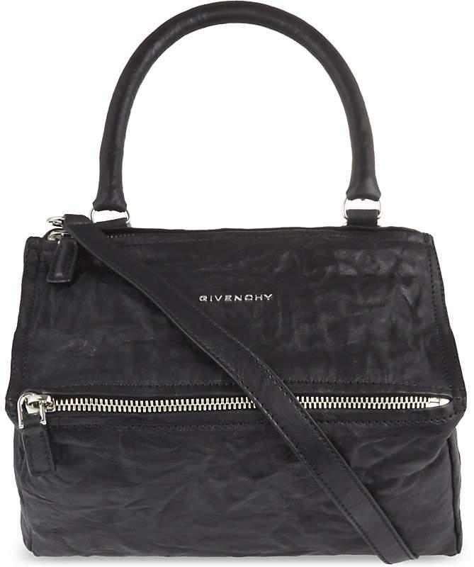 Givenchy Pandora small washed leather shoulder bag