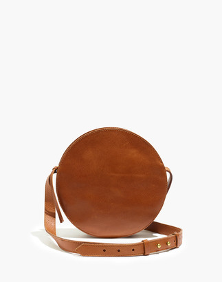 Madewell The Simple Circle Crossbody Bag in Leather