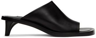 Jil Sander Black Slide Sandals