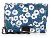 Loeffler Randall JR Lock Embroidered Velvet Chain Clutch