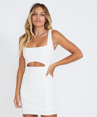 Alice In The Eve Renee Stretch Crepe Dress White