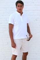 Bespoken Contrast Collar Polo in White