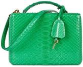 Mark Cross Grace Small Bright Green Python Box Bag