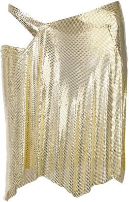 Fannie Schiavoni wrap-design chainmail skirt