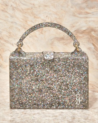 Edie Parker Housewife Glitter Acrylic Top-Handle Bag
