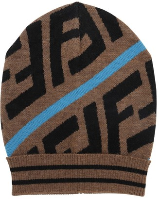 Fendi Logo Jacquard Cotton Blend Hat