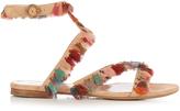 Chloé Liz tassel-embellished suede sandals