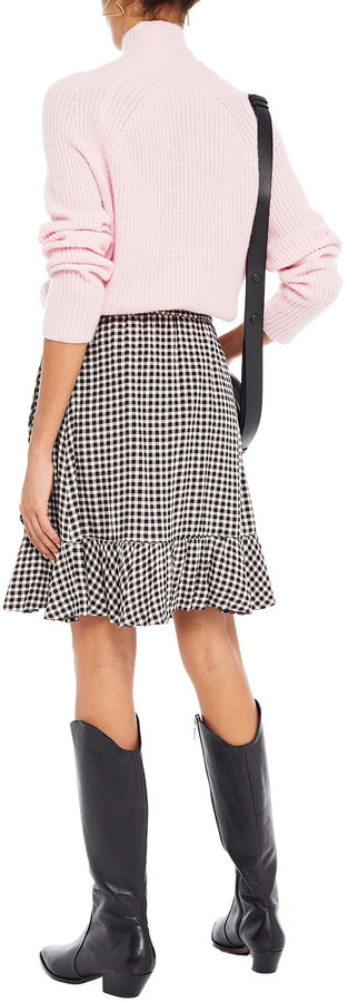 Thumbnail for your product : Ganni Wrap-effect Printed Crepe Mini Skirt