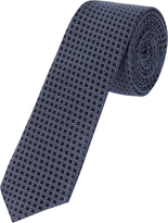 Oxford Silk Tie Dmnd Grid Blue X