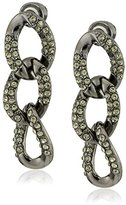 "Kenneth Cole New York Pave Status"" Link Triple Drop Earrings"