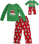 Dollie & Me Green 'Snow Days' Pajama Set & Doll Outfit - Girls