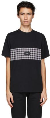 Rassvet Black Check Panel T-Shirt
