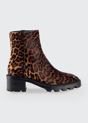Jimmy Choo Mava Leopard-Print Fur Ankle Booties