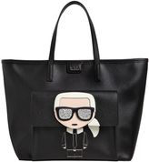Karl Lagerfeld K/Ikonik Face Faux Leather Tote Bag