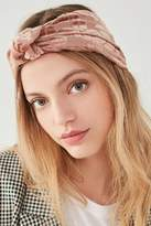 Urban Outfitters Burnout Velvet Knot Headwrap
