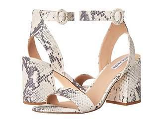 Steve Madden Lolana Heeled Sandal (Black Suede) Women's Shoes