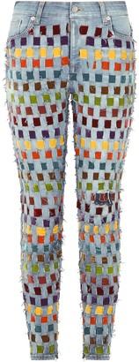 Dolce & Gabbana Ribbon-Detail Slim-Fit Jeans