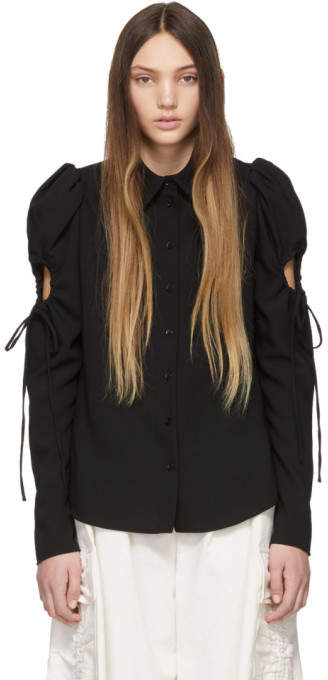 See by Chloe Black Sleeve Detailed Shirt