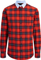 Tartan Shirting Cotton Clarendon Shirt In Red