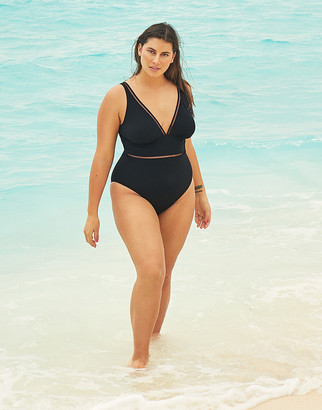 Figleaves Icon Milan Curve Plunge Ladder Shaping Swimsuit