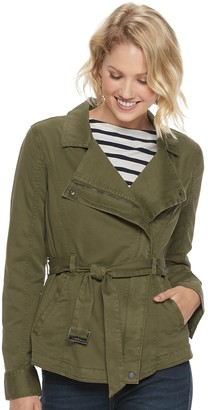 Sonoma Goods For Life Petite Twill Moto Jacket